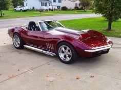 Hot Muscle Cars: Corvette Roadster 1968