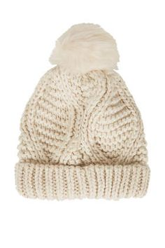 This is cute enough to make me want to wear a winter hat and I look awful in hats!