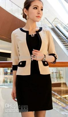 Faux Two-piece Dress Formal Attire for Women Business Casual ...