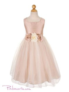 The girls flower dresses! Love this colour