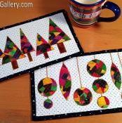Patchwork Christmas Mug Rugs - via @Craftsy-$2.95