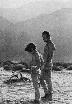Steve McQueen with his son Chad