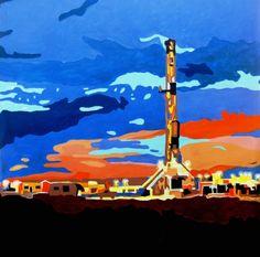 Beautiful Rig Artwork http://images.fineartamerica.com/images-medium/oil-rig-diana-moya.jpg #rig #drilling www.thedrillingpeople.com