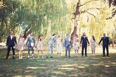 mis-matched wedding