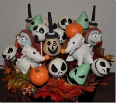 Nightmare Before Christmas Cake Pops!!!!
