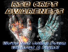 RSD CRPS Awareness fire and ice hands