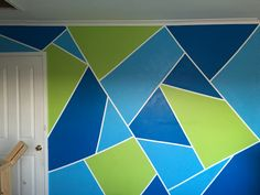 Painted feature wall