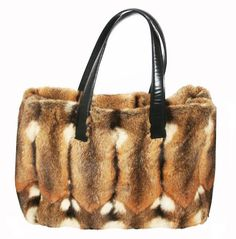 Rare Vintage Chanel Fur Handbag