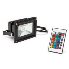 www.srenovablesextremadura.com Focos Proyectores LED 10 W RGB Modelo  FLH10RGB COB EPISTAR Color: RGB Dimensiones: 115x85x90mm Grado IP: IP65 Lúmenes: 800 Lm