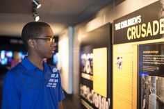 The Newseum's newest permanent exhibit explores the new generation of student leaders in the early 1960s who fought segregation by making their voices heard and exercising their First Amendment rights. (Maria Bryk/Newseum)