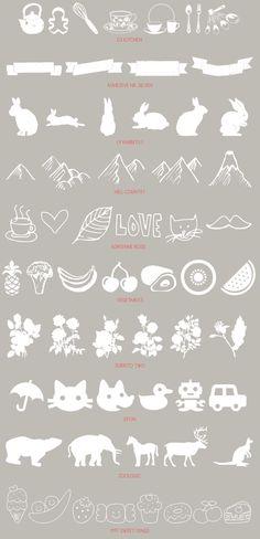 recursos molongos: 30 dingbats gratuitos   30 free diferent dingbats, illustration fonts