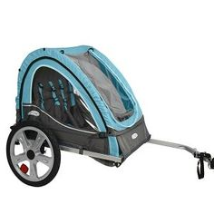 New InStep Take 2 Double Bicycle Trailer For Children Wheels Folds Compact. Product Description Bike your children in easy confidence with the InStep Take 2 Double Bike Trailer. Boasting a sturdy steel frame and pneumatic wheels, . Pet Bike Trailer, Bike Trailers, Trailer 2, Bull Terrier, Neko, Kids Bicycle, Thing 1, Cool Bike Accessories, Bike Reviews