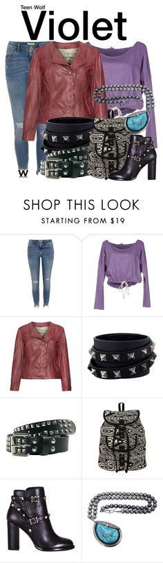 """""""Teen Wolf"""" by wearwhatyouwatch ❤ liked on Polyvore featuring River Island, Clark Jeans, Cabrini, Valentino, Pilot, television and wearwhatyouwatch"""