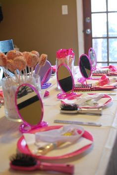 Fun Birthday Party Ideas For 13 Year Olds Spa Birthday Party Ideas for 13 Year Olds 13th Birthday Party Ideas For Girls, Girl Spa Party, Sleepover Birthday Parties, Girl Sleepover, Slumber Party Games, Birthday Party Tables, Little Girl Birthday, Birthday Fun, Birthday Party Decorations