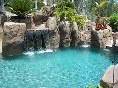 Tuscan Landscape Design+down Slope+pool Design, Pictures, Remodel ...