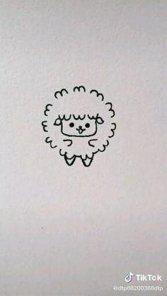 Easy Doodles Drawings, Art Drawings Sketches Simple, Simple Doodles, Cute Doodles, Cute Little Drawings, Cute Easy Drawings, Art Drawings For Kids, Drawing For Kids, Drawing Ideas