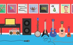 Fun, Cheerful Illustrations For The Launch Of Google Play Music - DesignTAXI.com