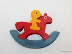 Wooden puzzle Horse rider by thewoodenhorse on Etsy, $9.00