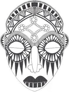 african mask drawings this free clip art is designed to help you