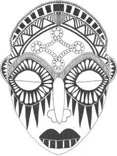 symmetrical tribal mask - Google Search