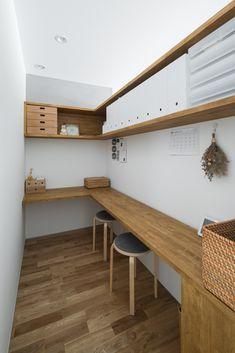 Home Office Design, House Design, Study Room Design, Small Home Offices, Japanese Interior Design, Workspace Inspiration, Diy Bedroom Decor, Home Decor, Apartment Living