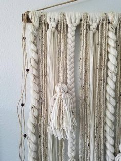 Large macrame wall hanging/macrame wall hanging/large woven wall hanging/large yarn wall hanging - Decor Diy Home Macrame Wall Hanging Diy, Macrame Mirror, Macrame Curtain, Macrame Bag, Macrame Knots, Yarn Wall Art, Art Yarn, Diy Wall Art, Wall Decor