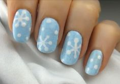 AH! I am going to make these happen next Winter! Although, I may only do snowflakes on my ring fingernail on each hand. Doing all of them seems a little excessive and a lot of work/time.