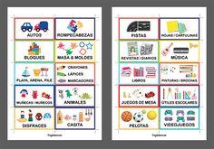 Etiquetas para organizar juguetes (imprimibles gratis!) y 6 consejos para lograrlo | Frugalísima