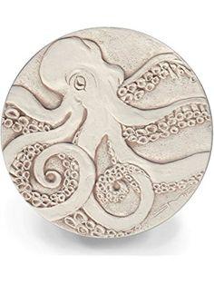McCarter Coasters Octopus Absorbent Drink Coasters Light Beige 4.25 inch Set of 4 ❤ ...
