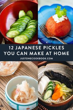 Turn your summer vegetables into delicious Japanese pickles with these classic recipes! From pickled ginger, quick pickled cucumber to pickled tomatoes, you can easily adapt the time-honored Japanese pickling techniques for any fresh vegetables. #japanesepickles #picklerecipes #quickpickles #pickledvegetables | More Japanese Recipes at JustOneCookbook.com