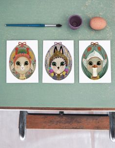 """SHHH MY DARLING — """"EASTER EGGS"""" cards set"""
