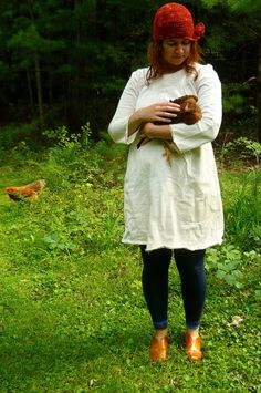 made to order long sleeve smock dress by hodgepodgefarm