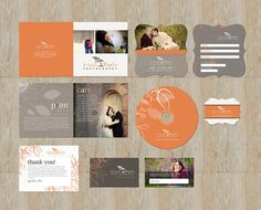 marketing package for photography- simple, pretty, everything looks different but uses same color scheme