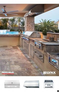 Turn your before, into an after. Find everything for the outdoor kitchen with Lynx Grills. From grilling tools to island accessories, find what you're looking for to bring your outdoor living dream to a reality at Pacific Sales. Outdoor Kitchen Patio, Outdoor Kitchen Design, Patio Design, Outdoor Rooms, Outdoor Living, Outdoor Decor, Outdoor Kitchens, Outdoor Fire, Backyard Patio