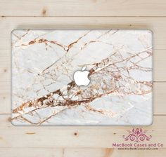 Cracked Marble MacBook Case. MacBook Case. Top (printed) and Bottom (clear) Hard Plastic MacBook Case by MacBookCasesandCo on Etsy