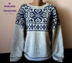 Norwegian Sweater Nordic Wool Sweater Unisex Sweater Icelandic Made To Order Fair Isle Knitting, Hand Knitting, Etnic Pattern, Priority Mail, Tracking Number, Wool Sweaters, Knitting Projects, Clothing Patterns, Iceland