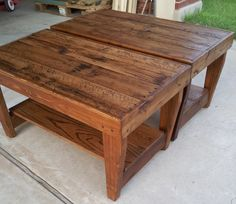 Two Piece Coffee Table / Benches by KreateHome on Etsy, $160.00