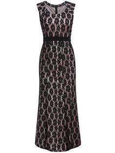 Black Round Neck Sleeveless Lace Maxi Dress 18.67