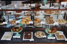 The Ovenly pastry case in Greepoint, Brooklyn