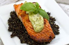 When we came across this incredible recipe for salmon with basil aioli and quinoa, we had to get in touch with Marla Meridith of Family Fresh Cooking
