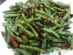 Sečuanské fazolky Wok, Green Beans, Vegetables, Vegetable Recipes, Veggies