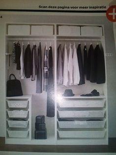 indeling kledingkast more interieurideeen indeling kledingkast cottage ...