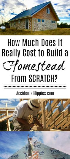 How Much Can It Cost to Build a Cordwood House From Scratch? Get a better idea of what it really costs to build a homestead from scratch. Check out our cordwood house and learn the true cost to build from start to finish. Homestead Farm, Homestead Survival, Survival Skills, Survival Tips, Deck Construction, Future Farms, Cost To Build, Building A Deck, House Building
