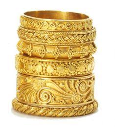 Carolyn Tyler 22k gold bands