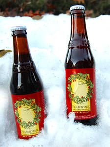 New Belgium's Frambozen is from Fort Collins, Colorado and contains real fruit — the beer is actually a dark ruby color.