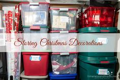 Storing Christmas Decorations, How to Organize Christmas Ornaments, Home Organization, Packing up Christmas