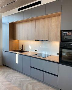 Simple Kitchen Design, Luxury Kitchen Design, Kitchen Room Design, Kitchen Cabinet Design, Home Decor Kitchen, Home Kitchens, New Kitchen Interior, Kitchen Dining Living, Cocinas Kitchen
