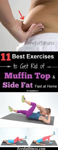 11 Best Exercises to Get Rid of Muffin Top and Side Fat Fast at Home.Do you want to lose those muffin top and side fat in 2 weeks? Discover here 11 easy workouts to reduce muffin top, love handles and side fat fast at home. Here are the Causes of muffin t Weight Loss Blogs, Weight Loss Challenge, Fast Weight Loss, Weight Loss Program, Weight Gain, Losing Weight, Diet Program, Body Weight, Reduce Weight