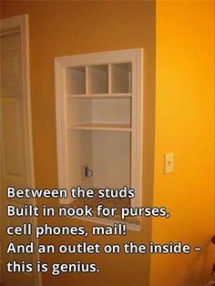 Simple Ideas That Are Borderline Genius - 30 pics of brilliant ideas to turn your house into a home. Home design Genius Ideas, Amazing Ideas, Up House, Tiny House, Smart House, My New Room, Built Ins, Getting Organized, Home Organization