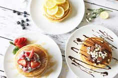 I have used so many different recipes over the years for pancakes, but this one by Jamie Oliver is definitely the easiest and most effective I've ever followed. If you prefer something a little more fluffy as opposed to a crepe, this is perfect for you! I tend to double Jamie's recipe when i'm makin